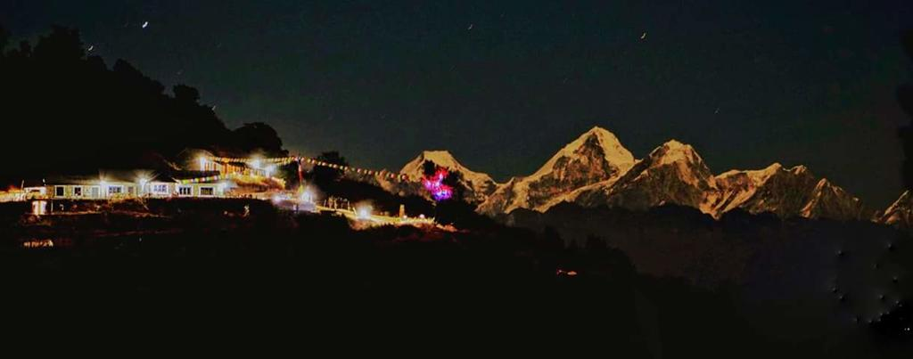 Night view from Prakriti Resort & Organic Farm